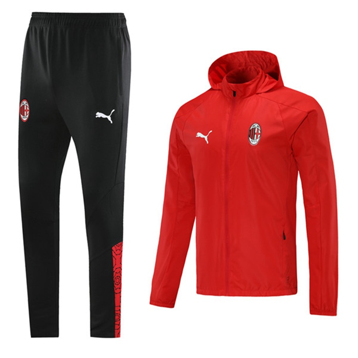 Negozio Insieme Tuta Calcio - Giacca AC Milan Rosso 2020/2021