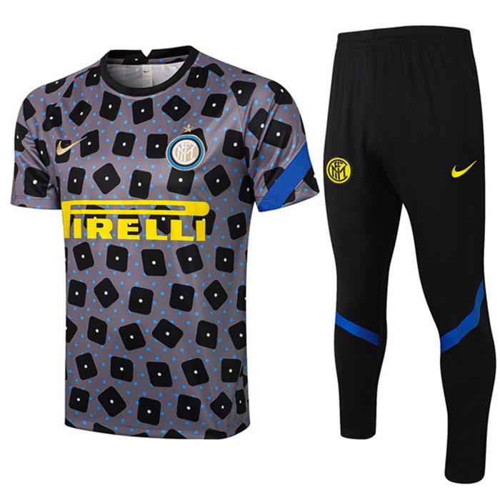 Creare Kit Maglia Allenamento Inter Milan Pantaloni Nero/Grigio ...